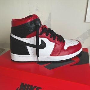 Air Jordan 1s Satin Snake Skin Retro High